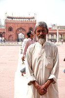 Worshipper at largest Masjid (mosque) in Delhi
